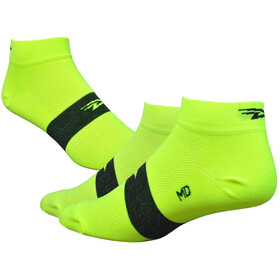 "DeFeet Aireator 1"" Socks, team defeet hi-vis yellow/black stripe"